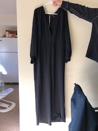 women's black long-sleeved dress 28 km