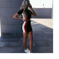 High Waisted Two Piece Set with Short Sleeves Winnipeg