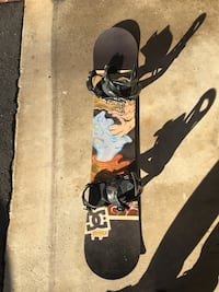 Used snow board. Will sell without boots or with boots. DC pbj with ride EX bindings. Boots are Rome libertine.  Fairfax, 22030