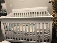Baby's white wooden crib with Mattress Toronto