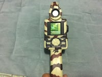 Beige and brown camouflage hand held hunting game