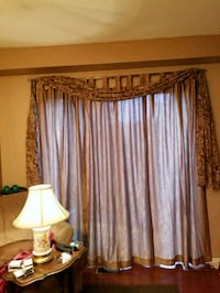 Gold panel Curtains and Flower Swag Mississauga, L5V 2A4