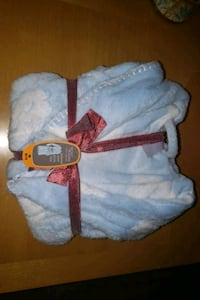 New baby blue robe with clouds on it size medium