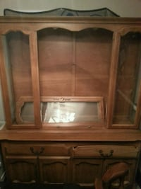 brown wooden cabinet with mirror Oklahoma City, 73116