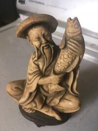 Asian fishermen holding fish carved figurine from Italy  Baltimore, 21222