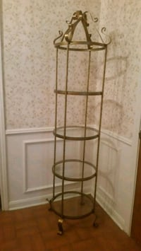 Vintage Gold Wrought Iron Glass Display Conroe, 77304