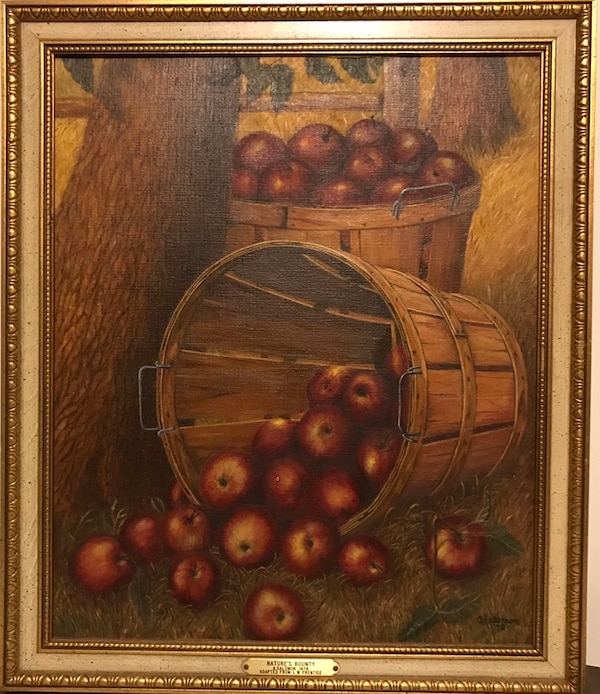 Oil Painting - Nature's Bounty. Adapted From Levi Wells Prentice