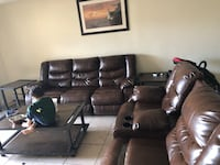 Black leather home theater sofa West Haven, 06516