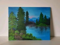 BC nature acrylic painting North Vancouver, V7L 1A4