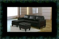 Black sectional with Ottoman Baltimore, 21215