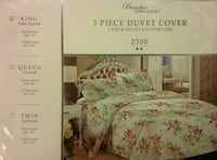 3-piece Bamboo duvet cover in package