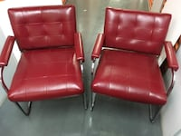 Red Leather Arm Chairs  Yonkers