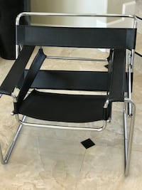 MARCEL BREUER WASSILY STYLE LEATHER CHAIR BLACK MOTIVATIVE SELLER MAKE ME A REASONABLE OFFER Tampa, 33647