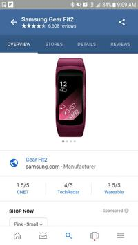Samsung Gear Fit2 Pink Smart Watch  Beaumont, 92223