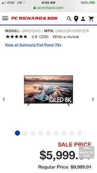 Brand new Samsung smart 8K 240  Hz  HDR 82 inch Q900R TOP MODEL
