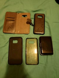 four assorted smartphone cases and black smartphone El Paso, 79936