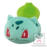 27CM Japan Banpresto Pokemon Sun And Moon Bulbasaur Kororin Friends Rolling Laying Tsum Tsum Soft Plush Toy        [Toreba] Singapore, 188067
