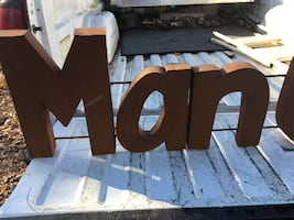 MAN CAVE Sign Metal Can be seen in Acton Call Mark at  [TL_HIDDEN]