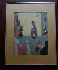 "Norman Rockwell 'Waiting for the Vet"" Print  Norwalk, 06851"