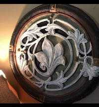 white floral metal and wood  wall decor Baton Rouge