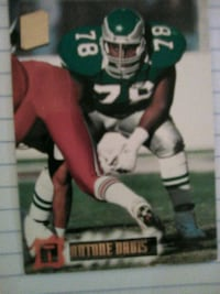 Ot Antone Davis Nfl legend Player Card Washington