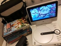 "7"" ZENITH PORTABLE DVD PLAYER/6 DVD MOVIES + CASE Greeley, 80634"