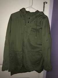 American Bazi Hooded Olive Green Jacket Middletown