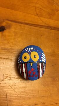 painted rock owl $8 I am trying to raise money so my daughter can play volleyball) thank you  Bakersfield, 93312