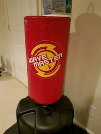 red and black Wave Master freestanding heavy bag Mount Olive Township