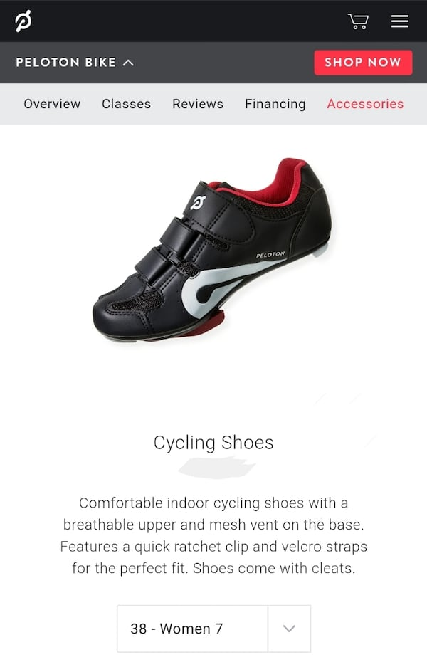 Official Peloton Spinning Shoes - Size 38 (Women's 7 US) 30868bf0-11ac-490d-9b78-a31b0abf2afd