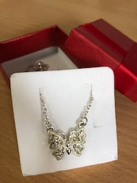 Butterfly necklace Silver jewelry  Markham