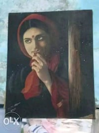 Painting of a shy woman..???????? 12574 km