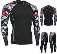 Top and bottom compression shirt and pants