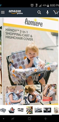 Shopping cart & high chair cover Oceanside, 92054