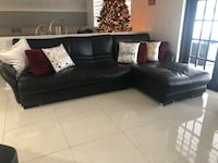 Black leather sectional - Sofa Plantation, 33317