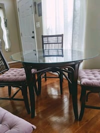 Bamboo Glass Top Dining Table Leesburg, 20175