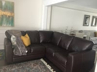 Black leather sectional sofa Aurora, L4G 1H5
