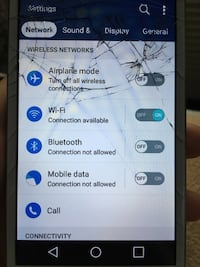 cracked white Samsung android smartphone Rochester, 14612