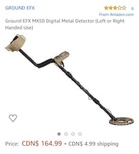 Ground EFX MX50 Digital Metal Detector (Left or Right Handed Use)