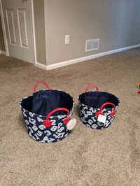 Basket (color is, red, and white for boys room)