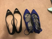 80 per pair size 7.5. Tory birch and Stuart Weitzman   Harrison, 07029