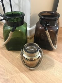 Glass decorative jars