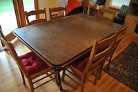 Dinning table solid wood w/ extentions SILVERSPRING