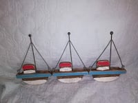 Ex. Cond. Two Vintage Wood/Metal Sailboat Wall Art Jacksonville