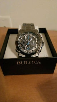 round black chronograph watch with link bracelet Simpsonville, 29680