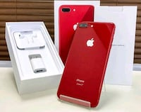 Red iPhone 8 plus with box Mississauga, N0L 1J0