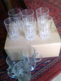 clear glass pitcher and drinking glasses 2395 mi