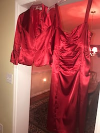 Red two piece... jacket and dress Stafford, 22554