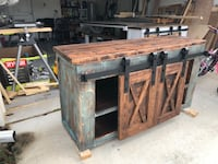 Custom Barn Door TV Console Bradenton, 34212