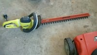 green and orange Ryobi hedge trimmer Brantford, N3R 6L6
